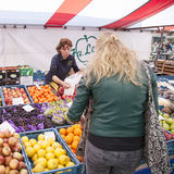 Fruit and vegetables on market in the dutch city of Breda Stock Photos
