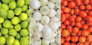 Fruit and vegetables at mexican market Stock Images