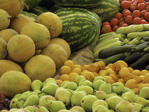Fruit and vegetables. Organic healthy vegetables and fruits Royalty Free Stock Photos
