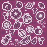 Fruit and vegetables pattern Stock Images