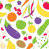 Fruit and vegetables pattern Royalty Free Stock Images