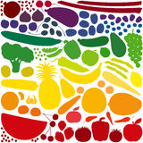 Fruit Vegetables Rainbow Colors Royalty Free Stock Images