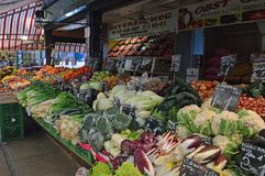 Fruit and vegetables for sale Naschmarkt Vienna royalty free stock photo