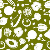 Fruit and vegetables seamless pattern Royalty Free Stock Images