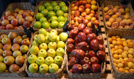 Fruit and vegetables on a shop Royalty Free Stock Images