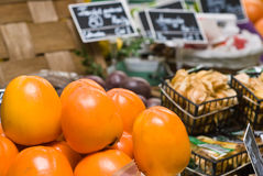 Fruit & Vegetables shop. Nice presented fruit & vegetables in a local shop Royalty Free Stock Photography