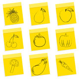 Fruit & vegetables sketch Royalty Free Stock Photos