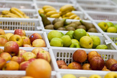 Fruit and vegetables in a supermarket Stock Images