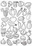 Fruit and vegetables Stock Images
