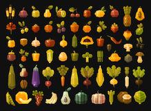 Fruit and vegetables  vector logos design template Royalty Free Stock Photo