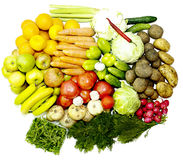 Fruit vegetables vitamins for health and mood Royalty Free Stock Photos