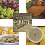 Fruit vegetables and wellness Stock Images