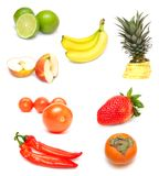 Fruit and vegetables  on white Royalty Free Stock Photography
