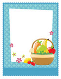 Fruit and veggie basket flyer Royalty Free Stock Photography