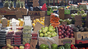 Fruit and Veggie Stand Royalty Free Stock Image