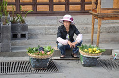 Fruit vendor in China Royalty Free Stock Images