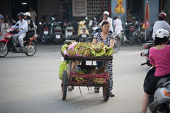 Fruit Vendor Ho Chi Minh City Royalty Free Stock Image