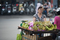 Fruit Vendor Ho Chi Minh City Stock Photo