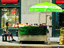 Fruit Vendor NYC Royalty Free Stock Photos