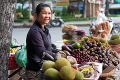 Fruit vendor Stock Images
