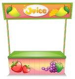A fruit vendor stall. Illustration of a fruit vendor stall on a white background vector illustration