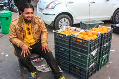 Fruit vendor Royalty Free Stock Images