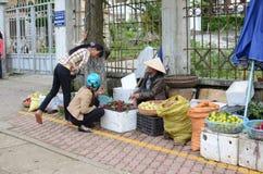 Fruit vendor in Vietnam Royalty Free Stock Images