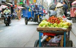 Fruit in Vietnamese street in Ho Chi Minh city, Vietnam.  Stock Photos