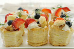 Fruit vol-au-vent Stock Photos