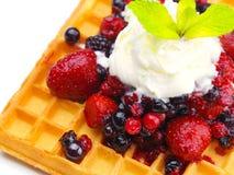 Fruit wafel Stock Afbeelding