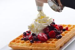 Fruit wafel Royalty Free Stock Photography