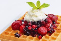 Fruit wafel Royalty Free Stock Images