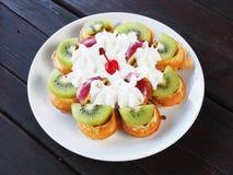 Fruit waffle Royalty Free Stock Photography