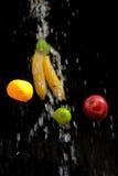 Fruit washing ( cleaning ) Royalty Free Stock Photo