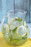 Fruit water in glass pitcher Royalty Free Stock Photo