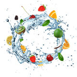 Fruit Water splash Stock Images