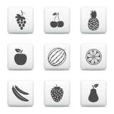 Fruit web buttons Stock Photos