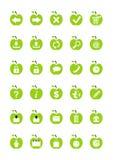 Fruit web icons. Based on apple image. Vector illustration Stock Photo