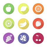 Fruit web icons Royalty Free Stock Image