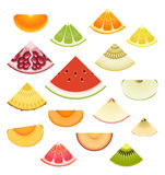 Fruit Wedge Set Royalty Free Stock Image