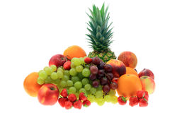 Fruit on white. Royalty Free Stock Photo