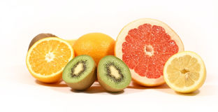 Fruit on a white background Stock Photo