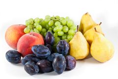 Fruit on white background Stock Image
