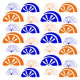Fruit on white background. Vector orange pattern.  Royalty Free Stock Photos