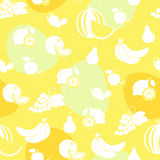 Fruit white silhouette seamless pattern Royalty Free Stock Photo