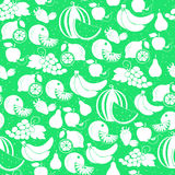 Fruit white silhouette seamless pattern Royalty Free Stock Photos