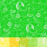 Fruit white silhouette seamless pattern Stock Photography