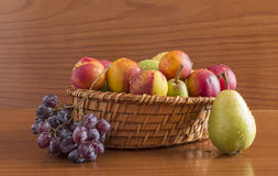 Fruit in a wicker basket Royalty Free Stock Photography