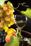Fruit and wine. Stock Photography
