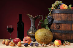 Fruit and wine Royalty Free Stock Images